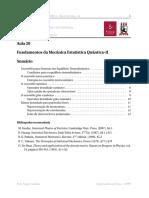 Fundamentos da Mecânica Estatística Quântica