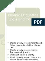 Islamic Etiquettes