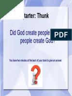 is god man made - thunk