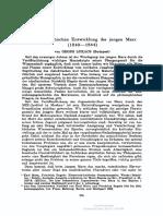 Georg Lukacs Zur Philosophischen Entwicklung Des Jungen Marx 18401844
