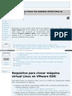 Cómo Clonar Una Máquina Virtual Linux en VMware ESXi