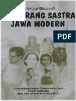 ANTOLOGI BIOGRAFI PENGARANG SASTRA JAWA MODERN