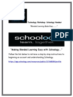 technology workshop schoology handout