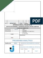 2016 - Programa Analítico