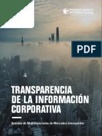 Transparencia de la Información Corporativa. Análisis de Multinacionales de Mercados Emergentes