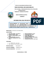 Informe Final proyeccion social y extension universitaria unh