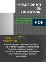 Impact of ICT on Education