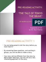 Pre-reading Activity 1 TONYO the BRAVE Lit 101