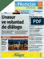 Últimas Noticias Vargas lunes 11 de julio de  2016
