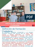 Presentacion de Formacion Cuidadana.