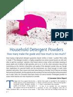 Study on Detergent powder
