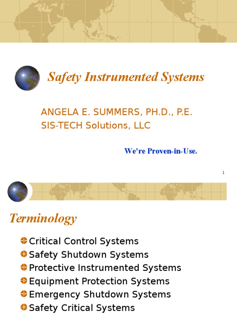 Angela Summers safety instrumented systems angela summers | safety | prevention