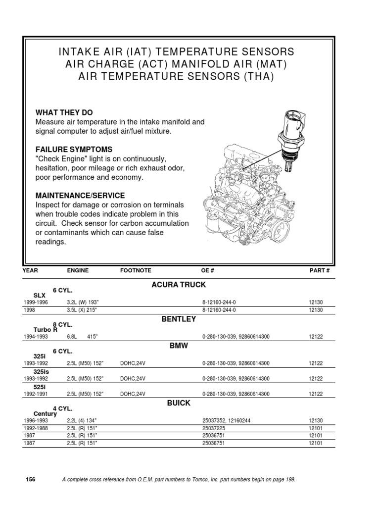 Mazda ZZM0-18-845 Air Charge Temperature Sensor