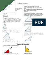 Tipos de Triángulo
