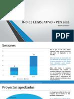 Índice Legislativo + PEN 2016 -Primer Semestre-