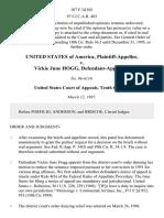 United States v. Vickie June Hogg, 107 F.3d 881, 10th Cir. (1997)