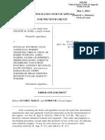 Gose v. Douglas Wyoming, 10th Cir. (2012)