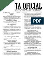 Gaceta Oficial N° 40.939 - Notilogía