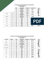 I Torneio de Xadrez CE PARANHOS Tabelas