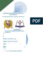 Informe Previo de Leyes de Kirchoff