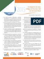 Os impactos do novo Código de Processo Civil na execução fiscal