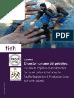 El costo humano del petróleo en Colombia