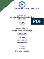 Unidad i Ciencias de La Educacion Ismelda de Los Santos