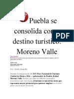 28-02-2016 Vértigo Político - Puebla se consolida como destino turístico; Moreno Valle