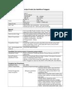 Deskripsi Produk Dan Identifikasi Pengguna
