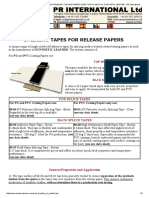 Adhesive Tapes - SPLICING TAPES FOR RELEASE _ CASTING PAPERS USED FOR PU AND PVC SYNTHETIC LEATHER - PR International Ltd - self-adhesive (pressure sensitive) - Print Friendly.pdf