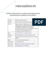Validez estructural de la escala de autorregulación del aprendizaje para estudiantes universitarios / Structural validity of the learning self-regulation questionnaire for university students