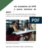 Mães e Pais Estudantes Da UFPR Enfrentam Pouca Estrutura de Apoio