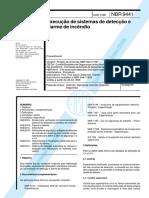 NBR- 9441 Execução de Sistemas de Detecção de Alarme de Incêndio