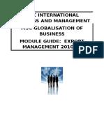 Export Management Module Guide 2011