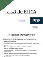 Cod de Etica Hotel PreZenTare Seminar