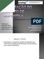 Seminário - Preparação Do Acetato de Isopentila (Refluxo) BAC 2012