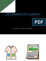 DISCRIMINACIÓ AUDITIVA ABCD - oposicions fonològiques