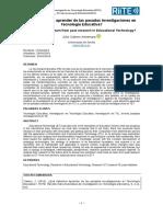 Investigación en TE - Cabero (2016)