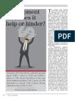 Developeht Aid Help or Hinder