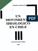 Eliodoro Dominguez - Un Movimiento Ideológico en Chile [1935]