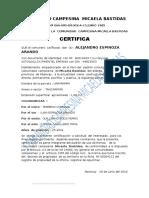 Certificado de Posicion de Micaela Bastidas