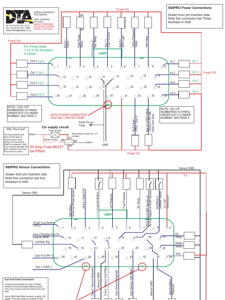 s60 wiring diagram | fuel injection | distributor  scribd