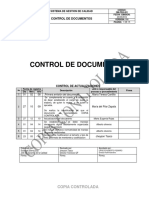 Gm-prg-001 Control de Documentos v006