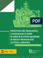 2009 Informe Tec Buenas Pract Calidad Atencion Infancia Adolescencia Dic 2008