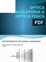 Optica Ondulatoria u Optica Fisica (2)