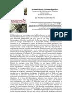 """""""Materialismo y Emancipación"""" por Nicolás González Varela"""