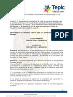 Reglamento de Tránsito Municipal Tepic