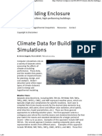 Climate Data for Building Simulations _ the Building Enclosure