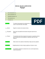 individual values clarification activity
