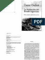 Oszlak, O. - La Formacion Del Estado Argentino Cap. 3 La Conquista Del Orden y La Institucionalizacion Del Estado